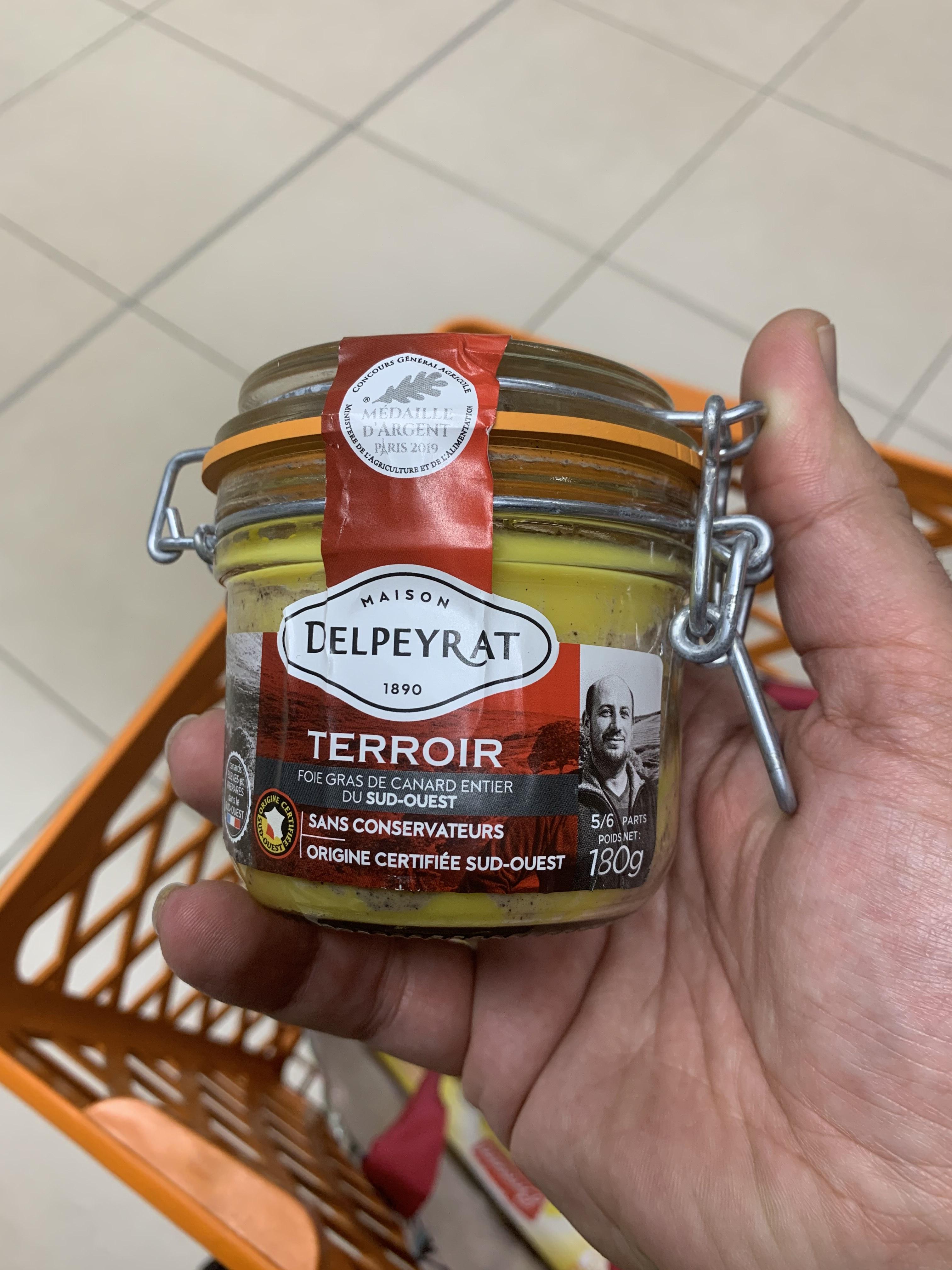 Foie gras Delpeyrat Terroir - 180gr (via 6.59€ sur la Carte de Fidélité) - Pontault-Combault (77)