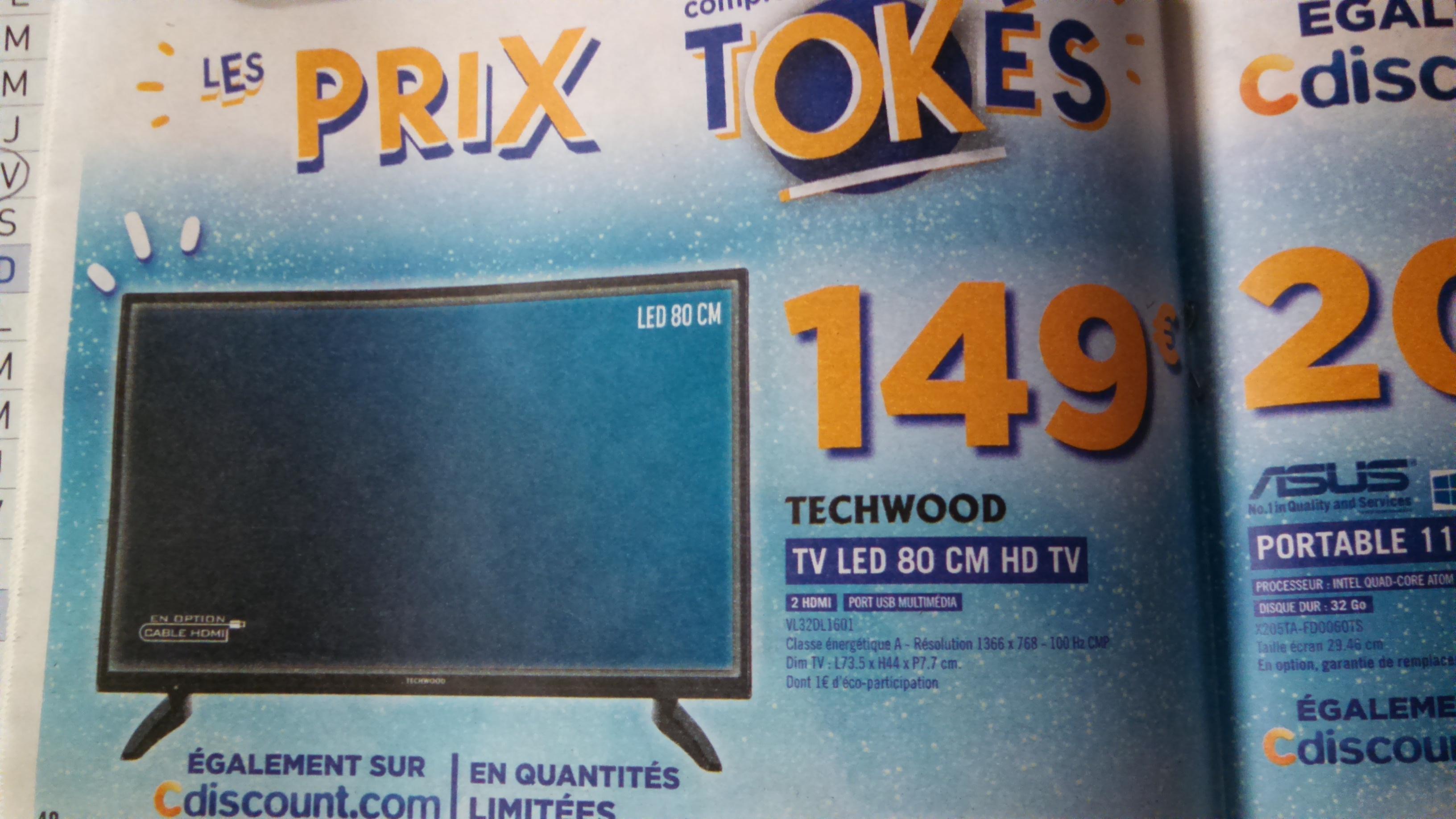 "TV 32"" Techwood VL32DL1601 - HD"