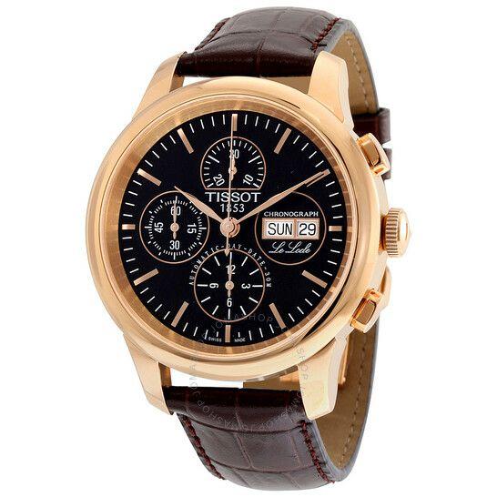 Montre TISSOT Le Locle Automatic Chronograph Black Dial Men's Watch T41.5.317.51 (port et frais de douane inclus)