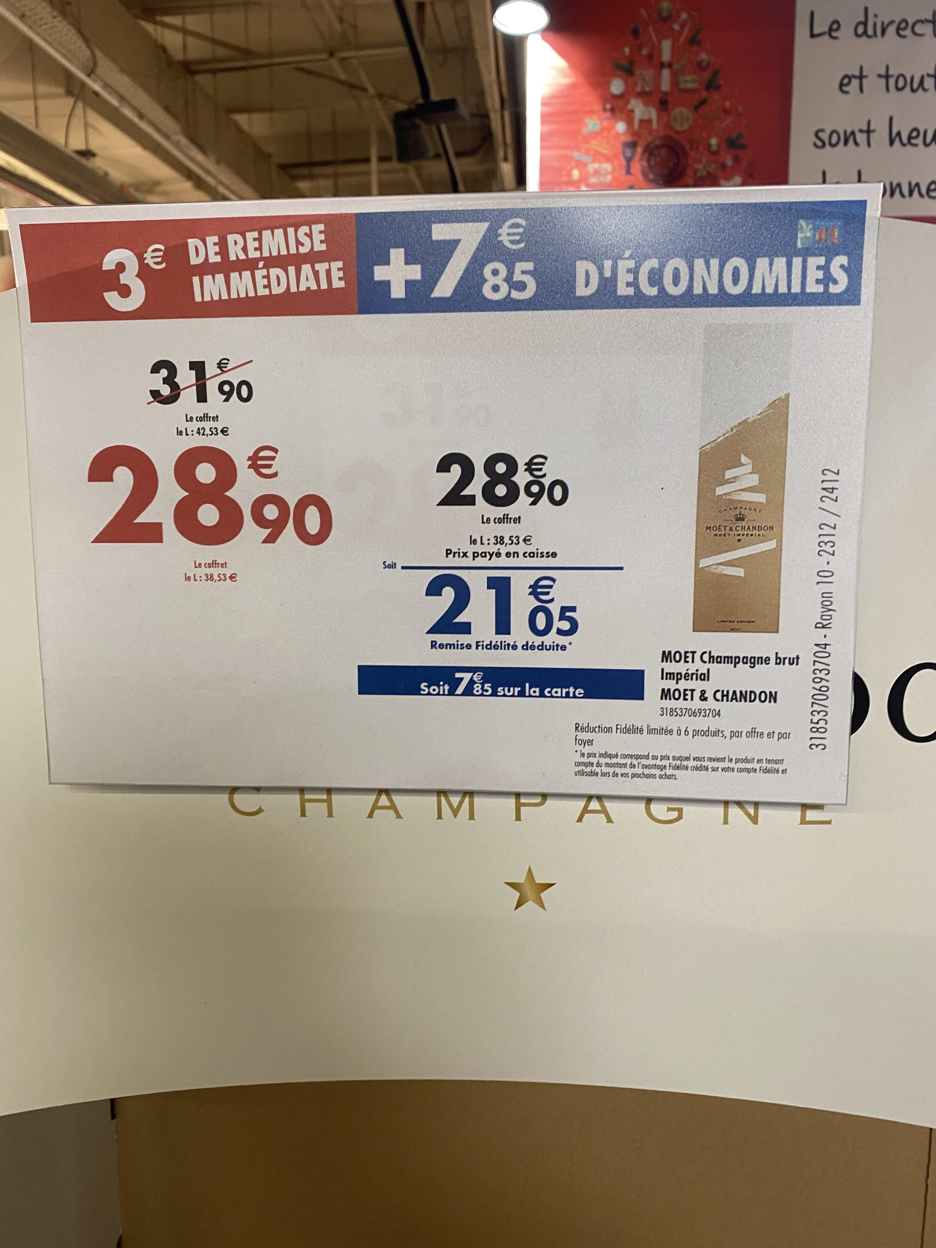 Bouteille de Champagne Moët et chandon brut impérial (Via Carte de Fidélité) - Lyon La Part-Dieu (69)