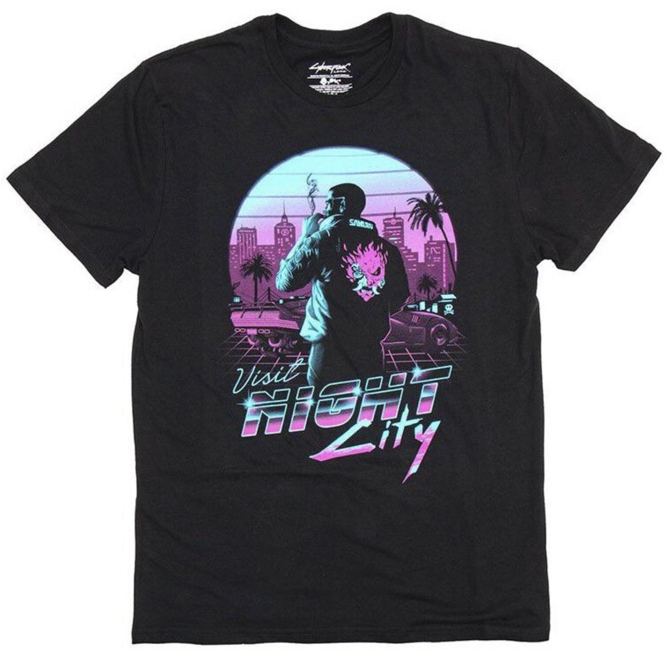 T-shirt Cyberpunk 2077 - Modèles & Tailles au choix (Via Retrait dans une sélection de magasins)