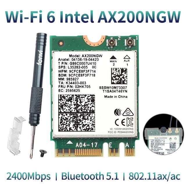 Carte Réseau WiFi 6 Intel AX200NGW