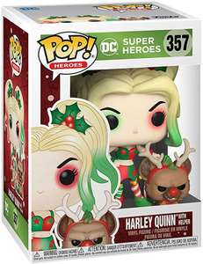 Figurine Funko Pop! DC Super Heroes Batman Joker - Harley Quinn & Helper Holiday (357)