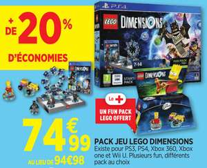 Pack Lego Dimensions Starter Pack sur Xbox One/PS4/Xbox 360/PS3 + 1 fun pack offert (valeur 14.99€)