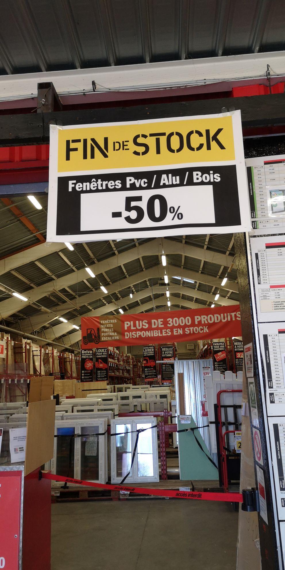 50% de réduction sur les Fenêtres PVC, Aluminium & Bois - Leers (59)