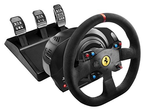Volant avec pédales Thrustmaster T300 Ferrari Integral Alcantara Edition pour PS4 & PC