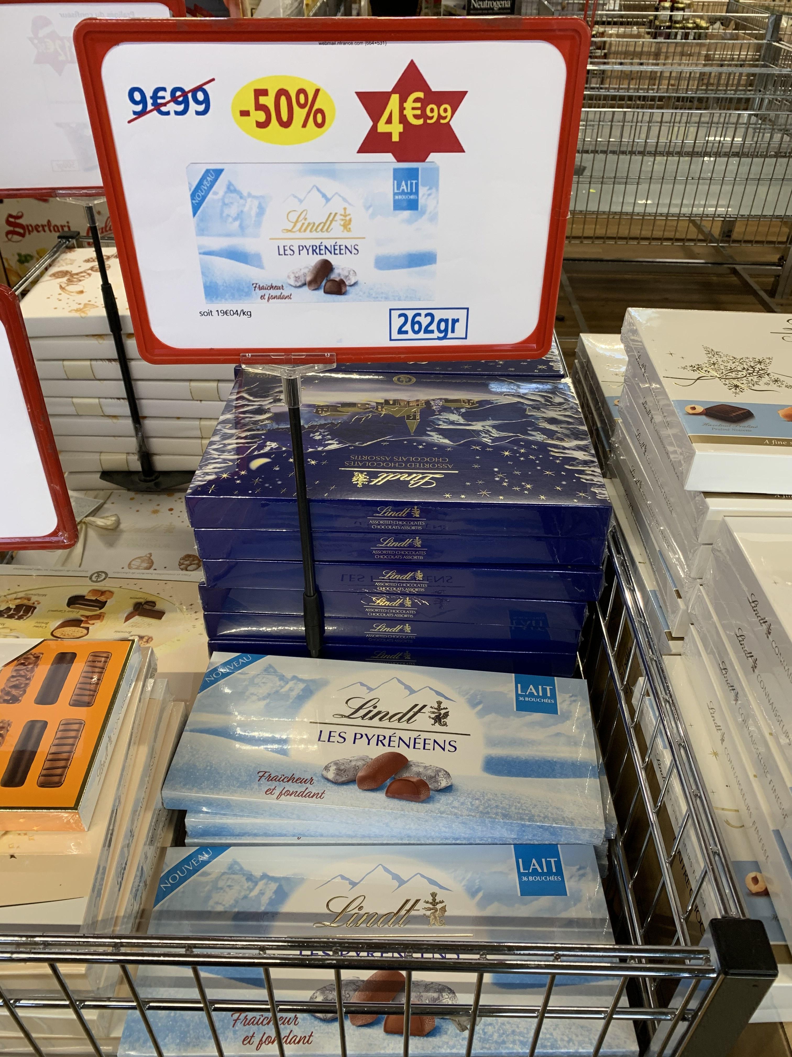 50% de réduction sur une sélection de chocolats Lindt - Ex : boîte Les Pyrénéens (262 g) - Cauffry (60)