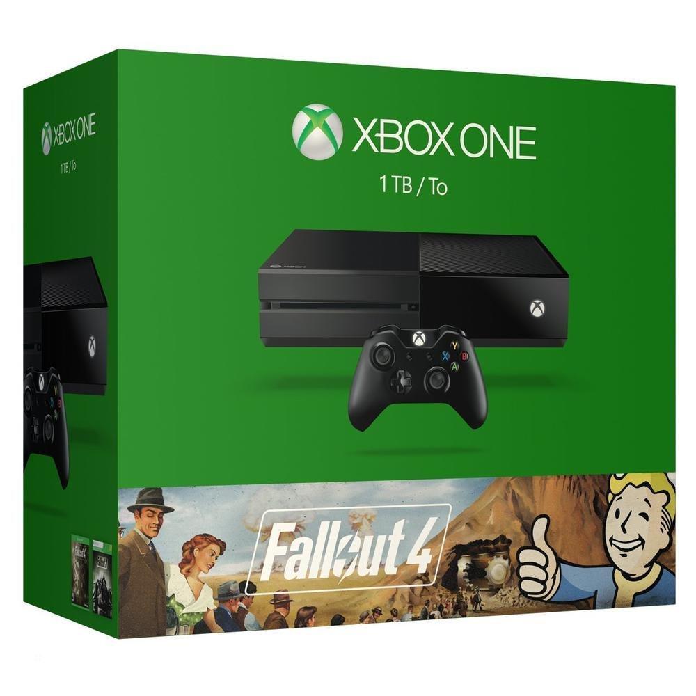 Console Microsoft Xbox One 1 To + Fallout 4 + Fallout 3  + un jeu offert (parmi une sélection)