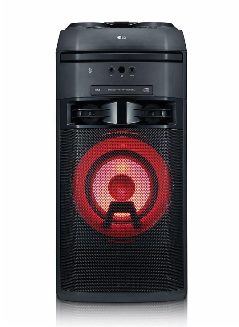 Chaîne Hi-Fi LG OK55 - lecteur CD / USB, avec effets lumineux, 500 W