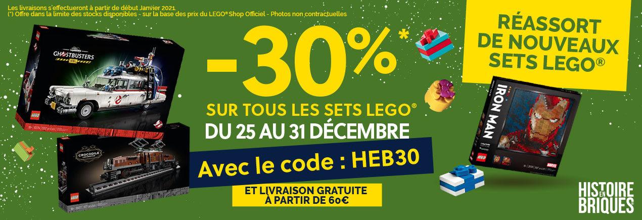 30% de réduction sur tout le site Histoire en Briques - Ex: Lego Ideas SOS Fantômes Ecto-1 (21108) à 139.3€ - HistoireEnBriques.com