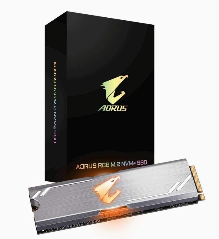 SSD interne M.2 NVMe Gigabyte Aorus RGB - 512 Go