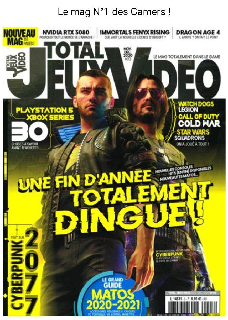 Abonnement mensuel au magazine Total Jeux Video - pendant 6 mois (sans engagement)