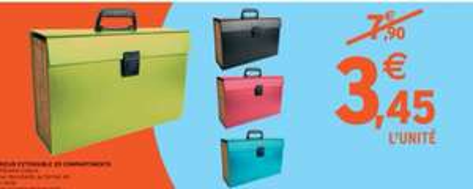 Trieur extensible 20 compartiments - Différentes couleurs disponibles