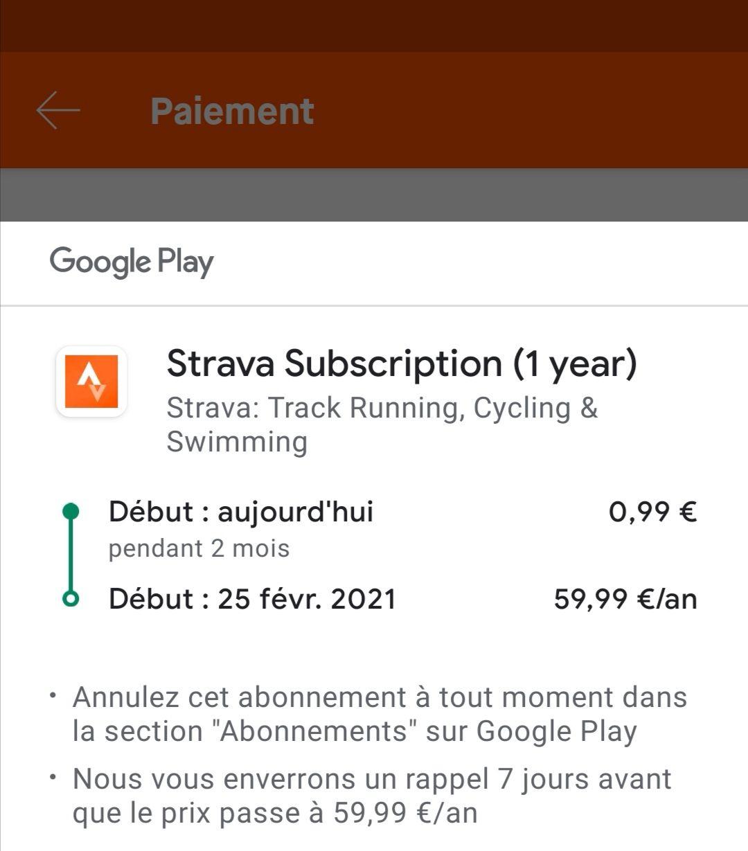 Abonnement 2 mois Strava Premium (strava.com)
