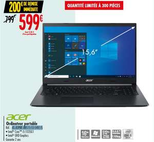 "PC Portable 15.6"" Acer Aspire A515-55-54VJ - Full HD, i5-1035G1, RAM 16 Go, SSD 512 Go, Windows 10"