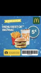 Menu Best Of Big Mac ou Filet-O-Fish à 5€ - Porte Maillot Paris (75)