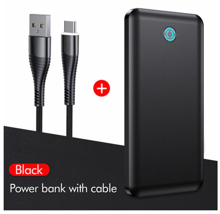 Batterie Externe YKZ Powerbank affichage LED - 10000mAh + Câble