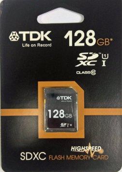 Carte SDXC TDK UHS-I Classe10 - 128Go