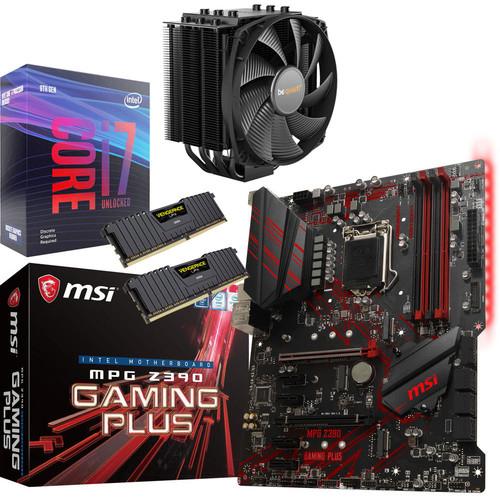 Processeur Intel i7-9700KF + Carte mère MSI Z390 Gaming Plus + Ventirad Dark Rock 4 + Mémoire RAM Corsair Vengeance LPX 16 Go