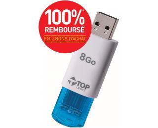Jusqu'à 100% remboursés en bons d'achats sur une sélection de produits - Ex: Clé USB 2.0 8Go (+ 2 bons de 2,50€)
