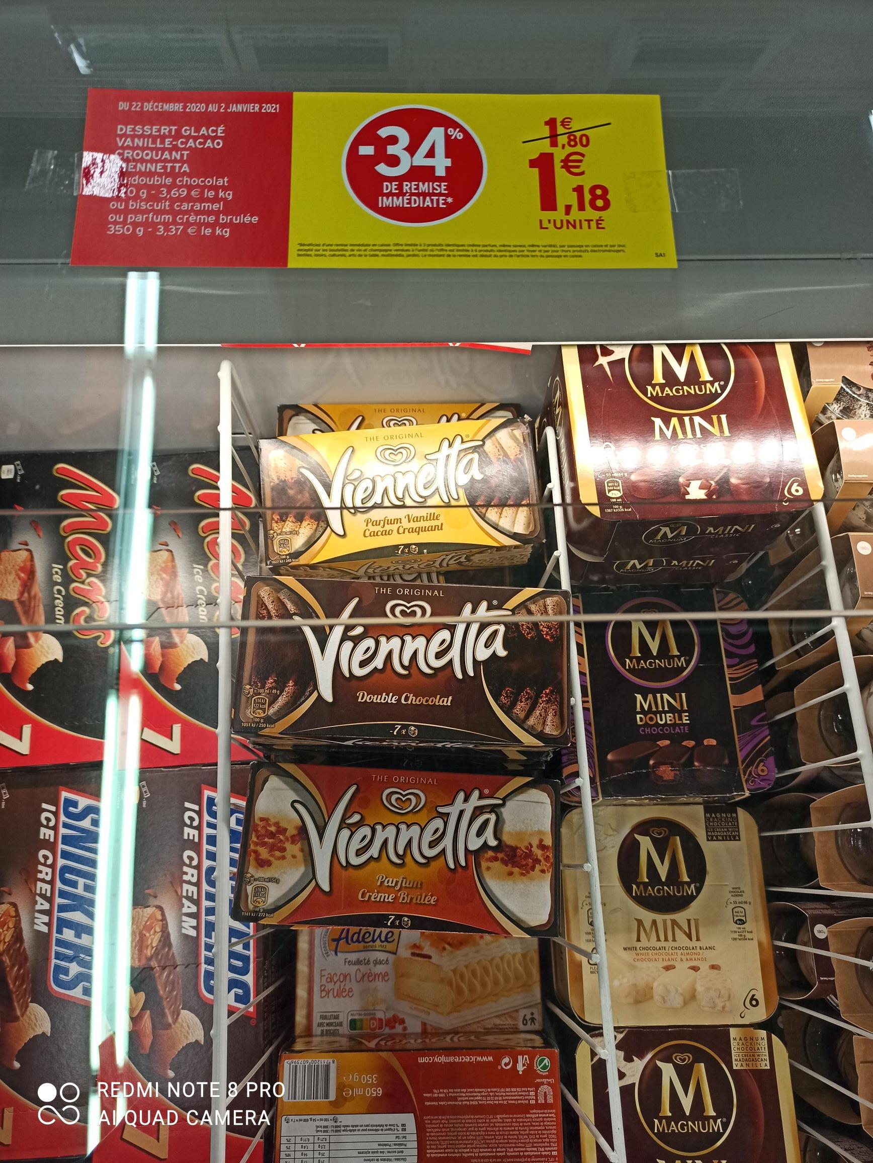 Glace Biscuit Miko Viennetta (Différentes Variétés) - Émerainville (77)