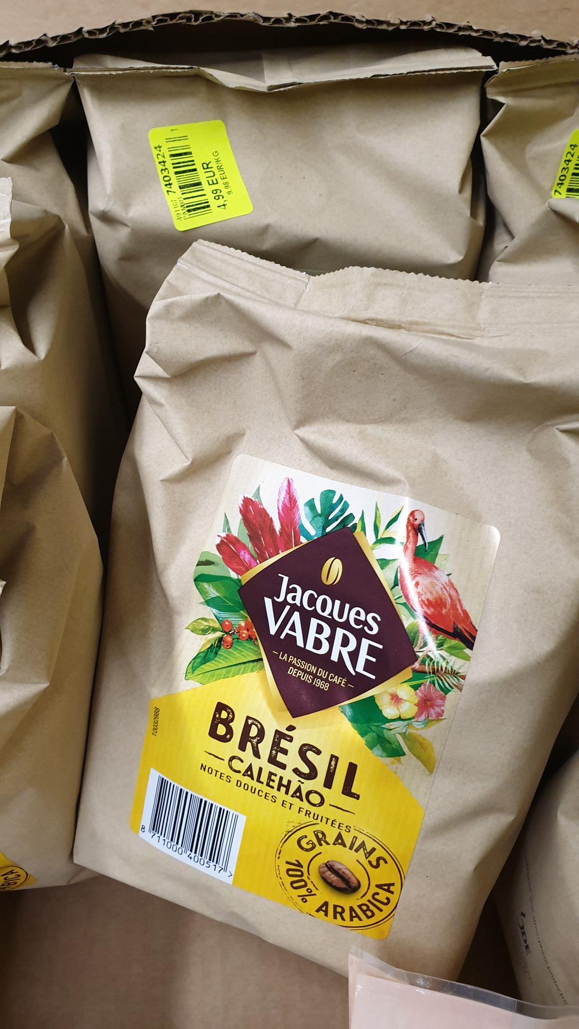 Café en grains Jacques Vabre Brésil Calehao (100% Arabica, 500g) - Évreux (27)