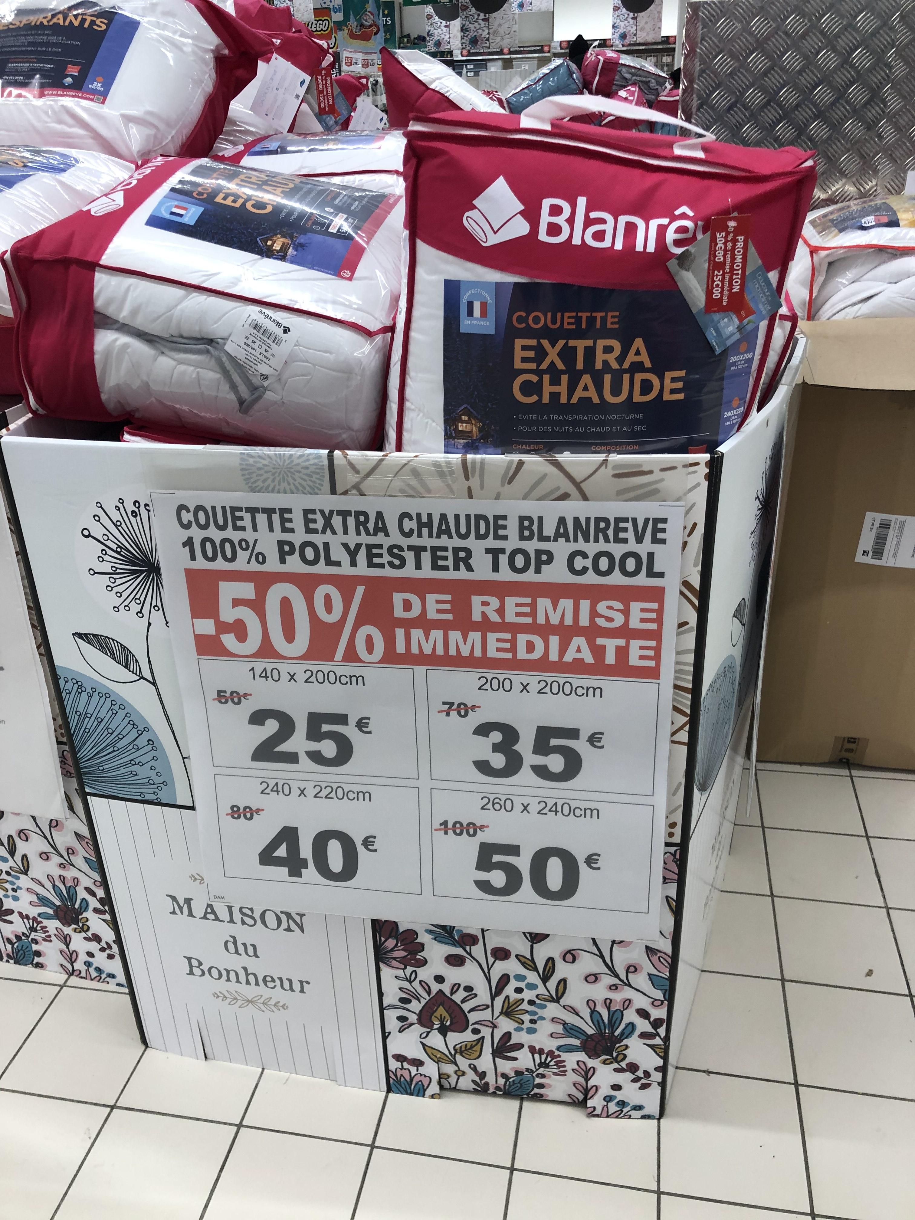 Sélection de Couettes extra chaude Blanrêve en promotion - Ex : 140 x 200 cm
