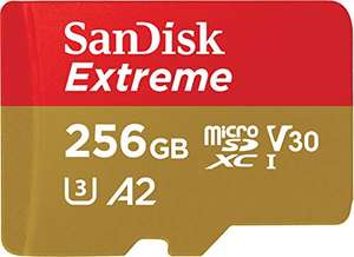 Carte microSDXC SanDisk Extreme V30 A2 (256 Go) + Adaptateur SD