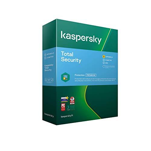 Licence Antivirus Kaspersky Total Security 2021 - 2 an, 5 Appareils