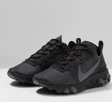 Baskets basses Nike React Element 55 - Noir, (taille 36 à 39)