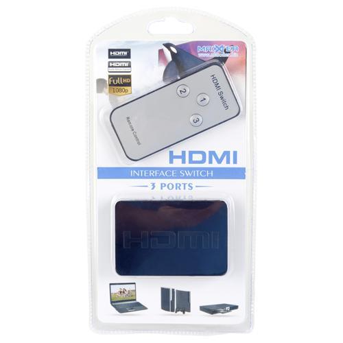 Switch HDMI Maxxter (3 ports + télécommande)