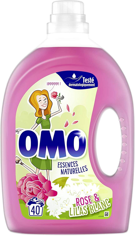 Lot de 2 bidons de Lessive liquide Omo - 2 x 2 L (Plusieurs variétés)