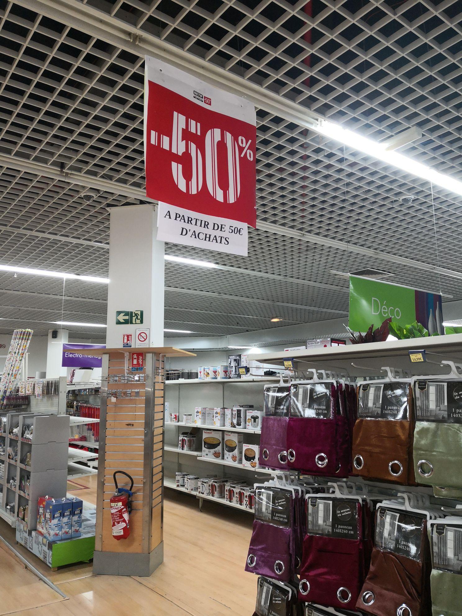50% de réduction à partir de 50€ d'achat - Destock Discount vitry sur seine (94)