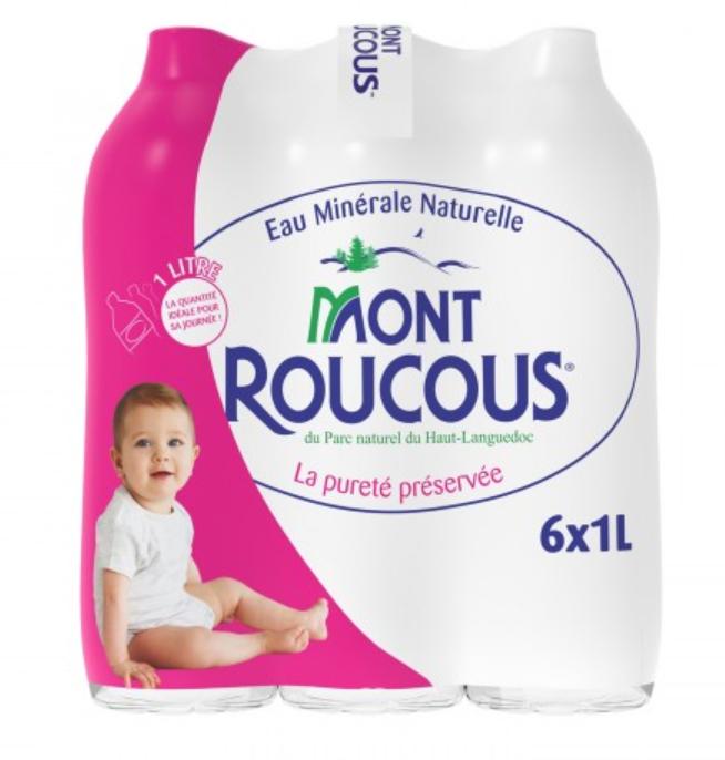 Pack de 6 Bouteilles d'Eau Minérale Mont roucous - 6 x 1L