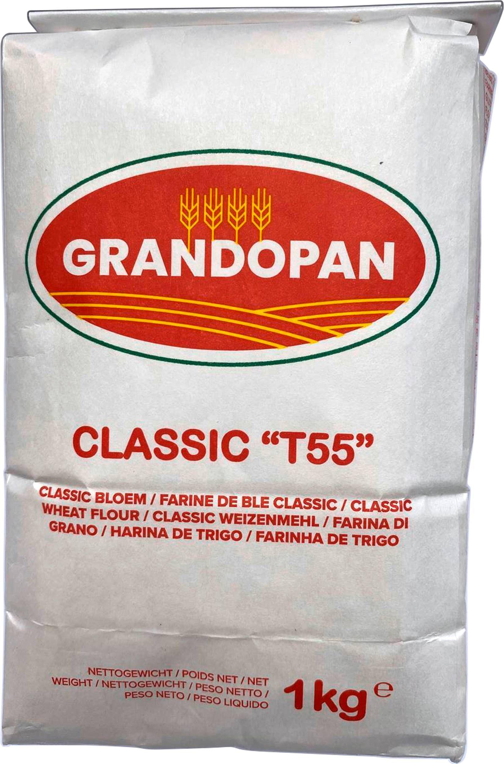 Lot de 2 paquets de farine Grandopain Classic T. 55 - 2x1 kg