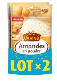 Lot de 2 sachets d'Amandes en poudre Vahiné - 2 x 125g (Via 1.47€ sur la carte fidélité)