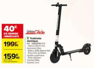 Trotinette électrique UrbanGlide Ride 85C