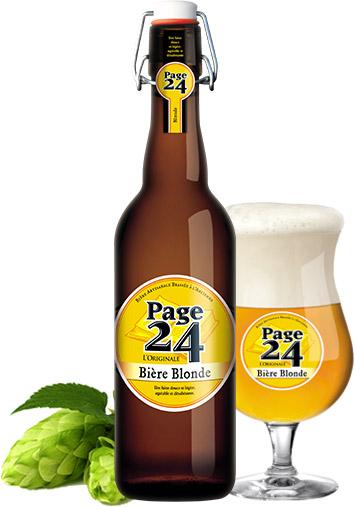 Bouteille de bière blonde Page 24 gratuite (75 cl) - Aire-sur-la-Lys (62)