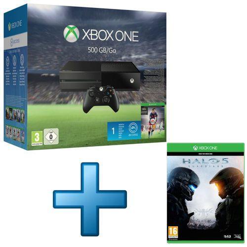 Console Microsoft Xbox One 500 Go + FIFA 16 + Halo 5 : Guardians + 1 mois d'EA Acces