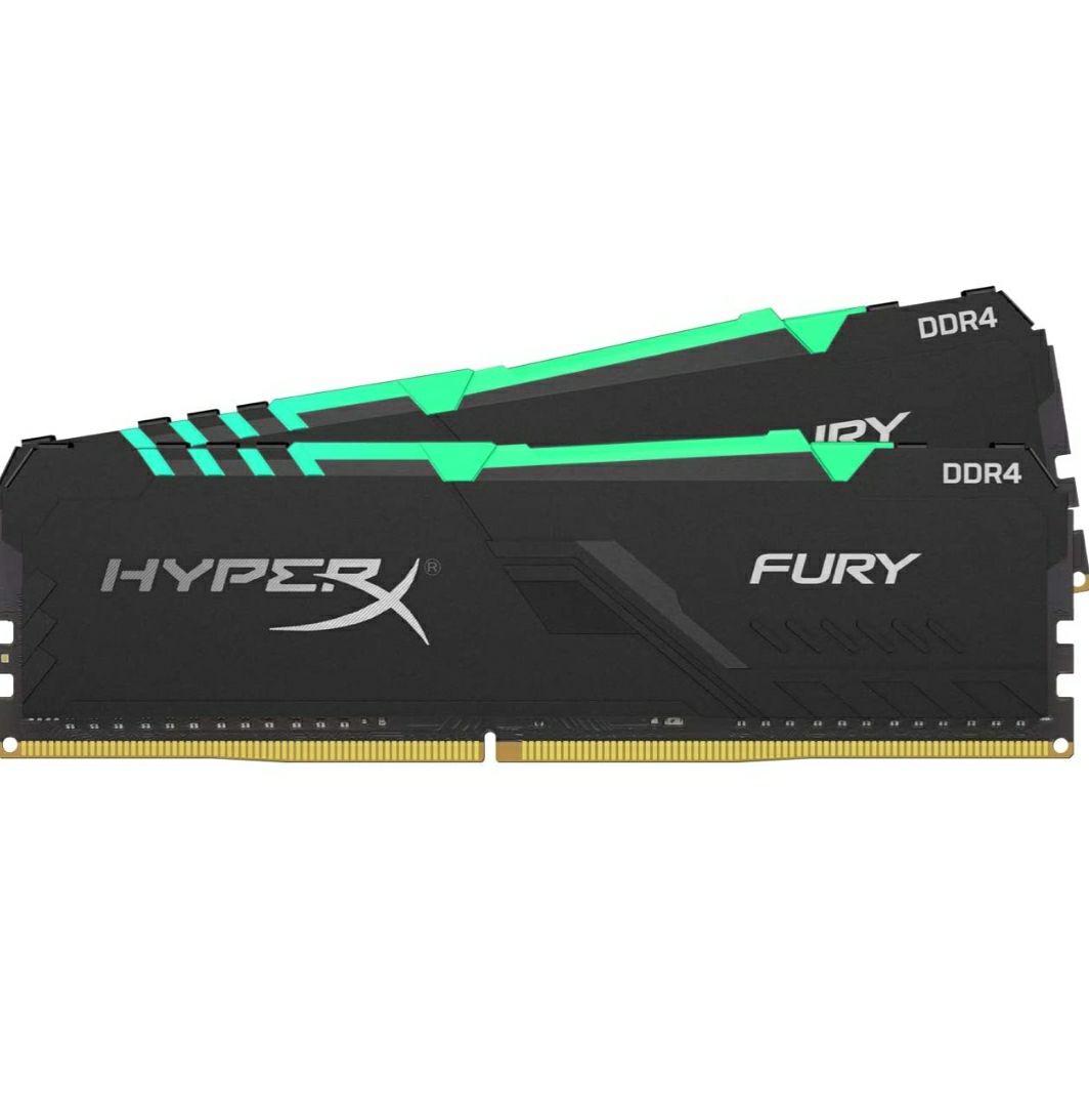 Kit mémorie DDR4 HyperX Fury RGB (HX436C18FB3AK2/64) 64 Go (2 x 32 Go) - 3600 MHz, CL18