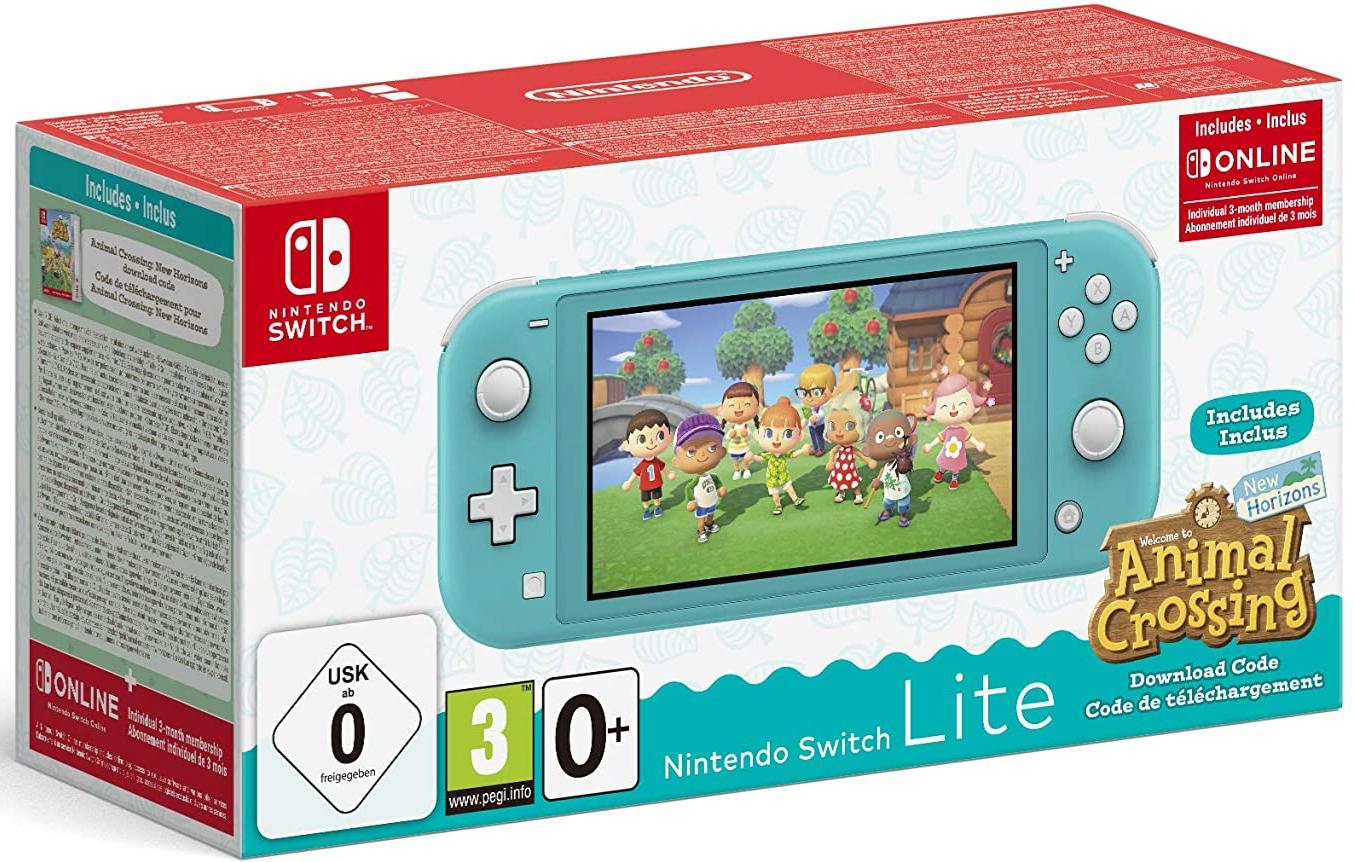 Console Nintendo Switch Lite + Animal Crossing : New Horizons + Abonnement Online 3 mois (via 70€ sur la carte) - Bain-de-Bretagne (35)