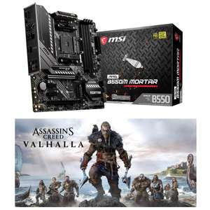 Carte mère Micro-ATX MSI MAG B550M Mortar + Jeu Assassin's Creed Valhalla sur PC (117.156€ avec le code LASTCHANCE) - Via ODR de 30€