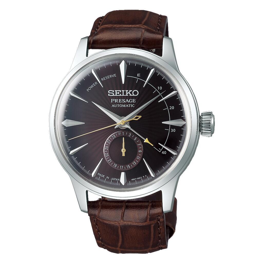 Montre automatique Seiko Presage SSA393J1 (bracelet en cuir, marron) - Tempka.com