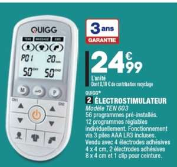 Electrostimulateur Quigg