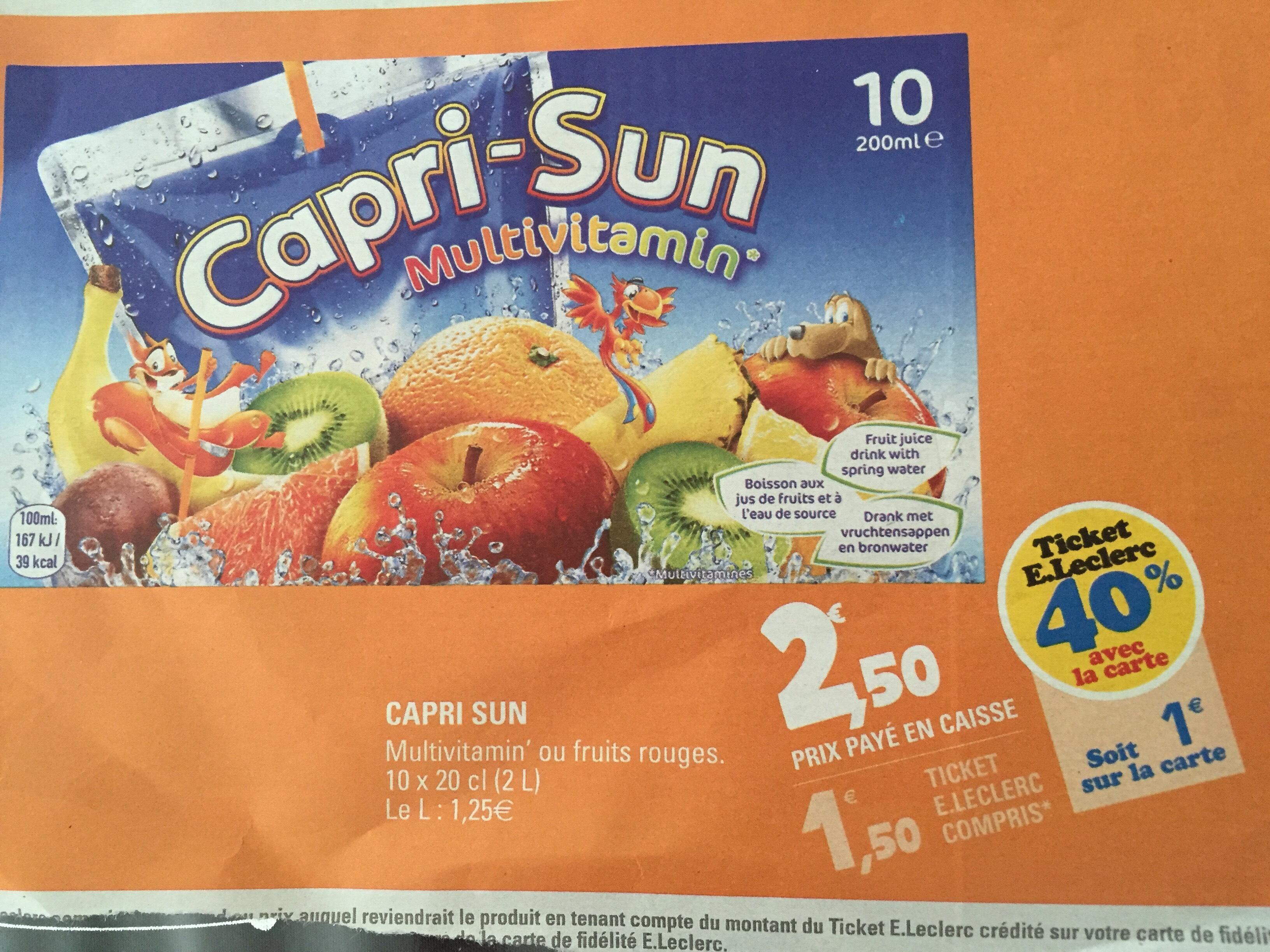 Lot de 4 packs de 10 Capri-Sun (BDR + 4€ sur la carte)