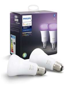2 Ampoules LED Connectées Philips Hue White & Color Ambiance E27