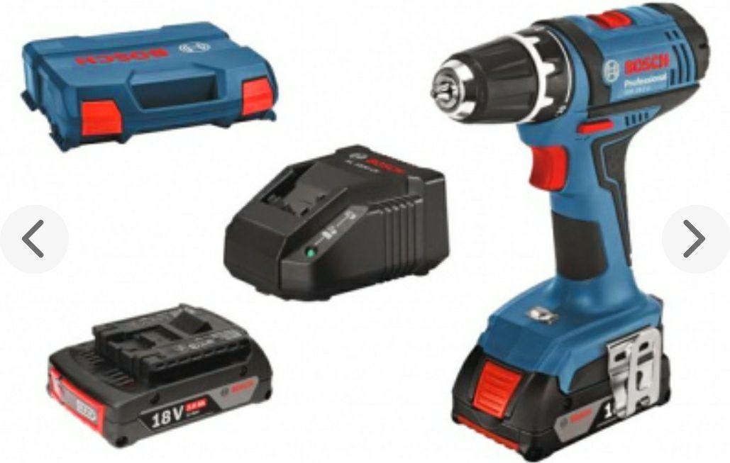 Perceuse visseuse Bosch Professional 06019B7305 18V - 2 batteries Li-Ion 2Ah, Chargeur + Coffret L-Case