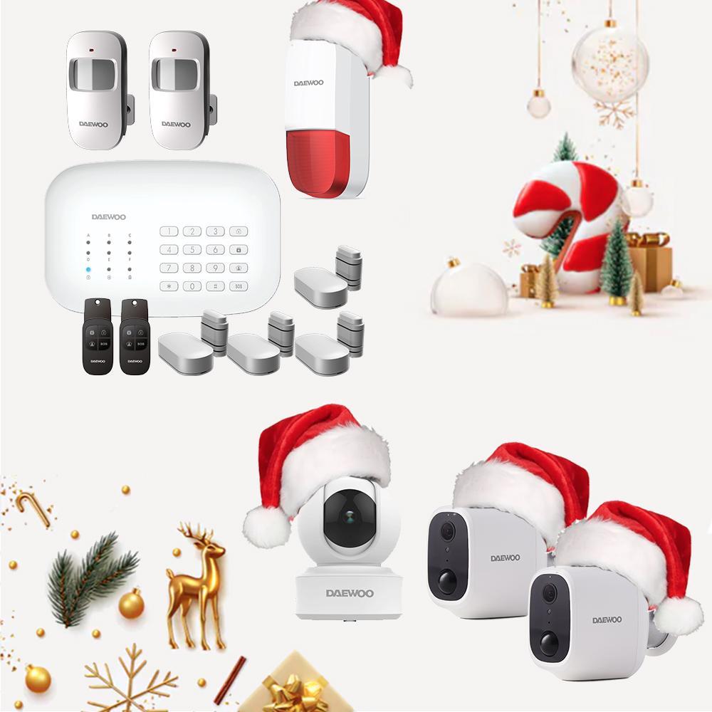 Système Alarme + Caméras intérieure et extérieures sans-fil Daewoo (Daewoo-security.fr)