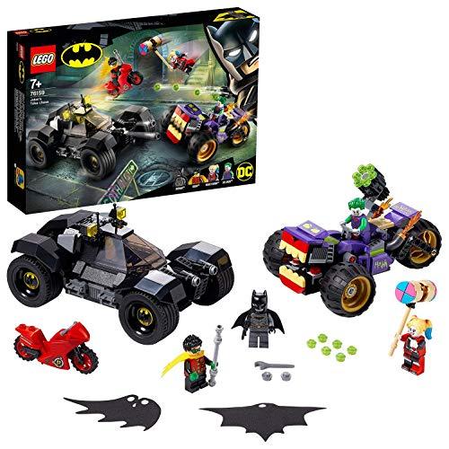 Jouet Lego DC Comics Batman : La poursuite du Joker en moto à 3 roues (76159)