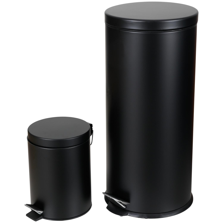 Set de poubelles à pédale 2 pièces | 30 litres + 5 litres